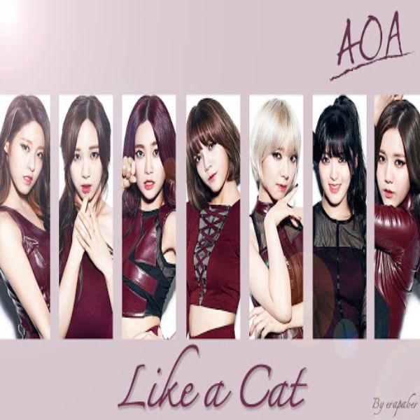 موزیک ویدیوکره ای گروه دختر (ای او ای) AOA با نام (مثل یک گربه) Like a Cat